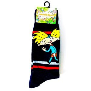 Nickelodeon Hey! Arnold Crew Socks 90s Cartoon